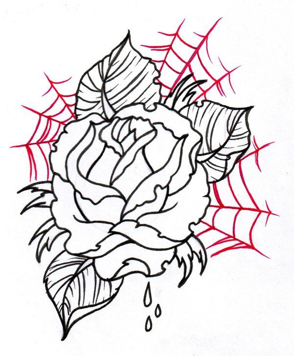 Tattoo Sketches Neo Traditional Rose Outline 2 By Ideas And Designs