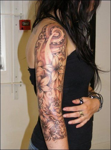 Womens Classy 3 4 Tattoo Sleeves Drawings Floral Half Ideas And Designs