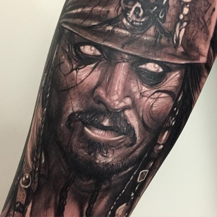 Anrijs Straume Johnny Depp Captain Jack Sparrow Tattoo Ideas And Designs