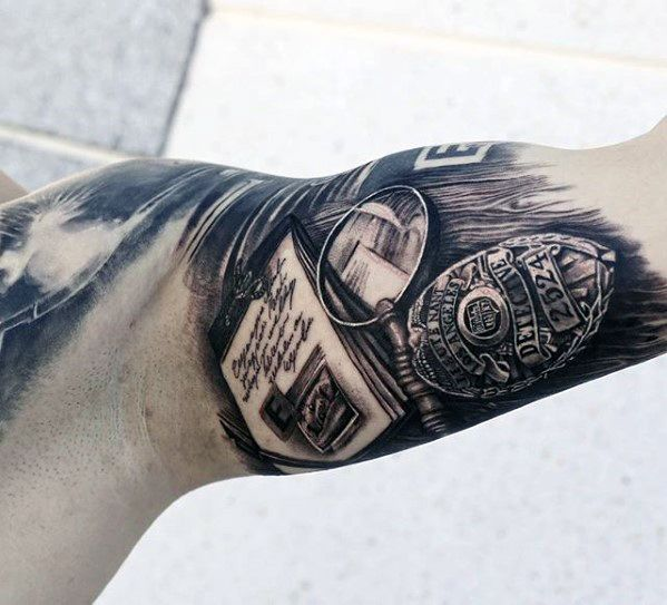 50 Police Tattoos For Men Tattoos For Men Pinterest Ideas And Designs