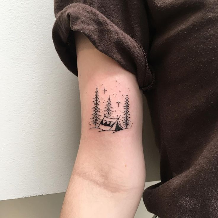 Best 25 Camping Tattoo Ideas On Pinterest Ideas And Designs