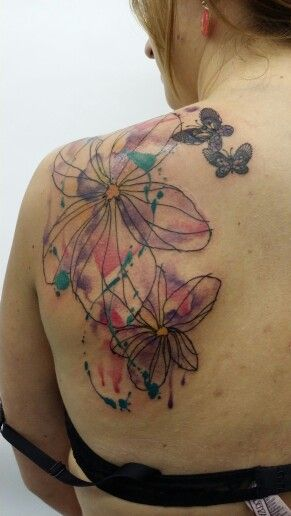 1000 Images About Watercolor Tattoos Tatouages Ideas And Designs