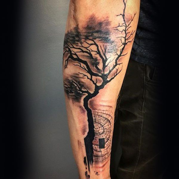 Abstract Forearm Guys Tree Tattoos Tattoos Pinterest Ideas And Designs