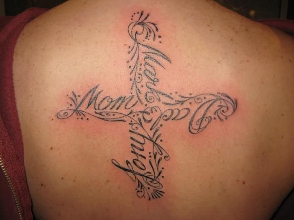 Family Cross Tattoo I Like The Idea Of Something Abstract Ideas And Designs