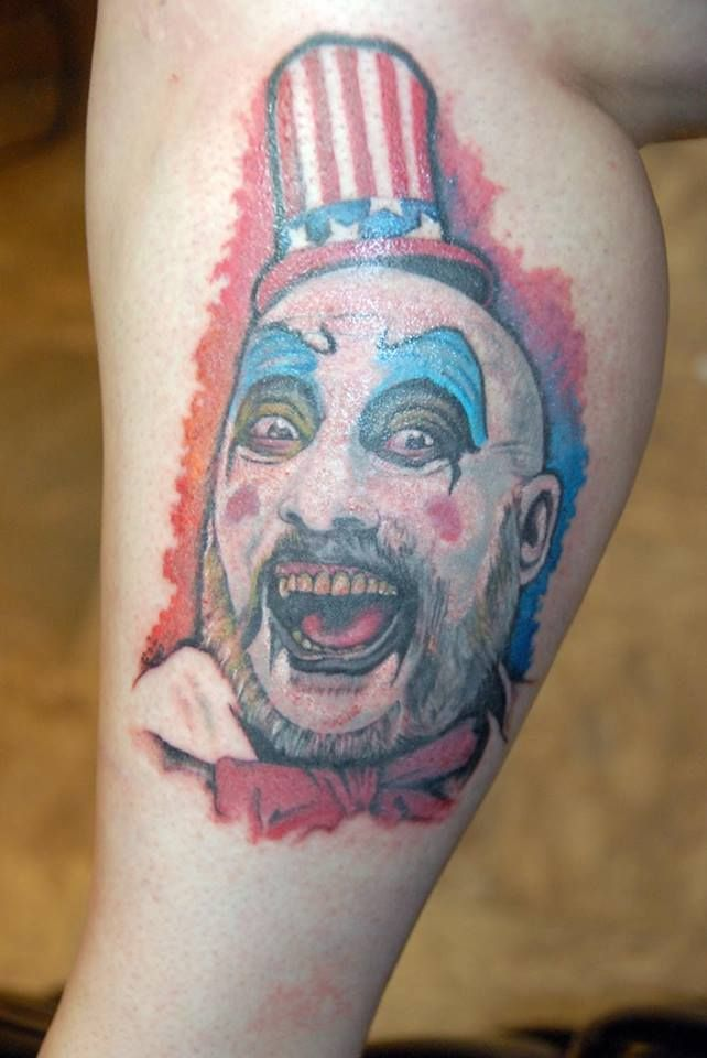 Captain Spaulding Tattoos By Joe Byron Pinterest Tattoo Ideas And Designs