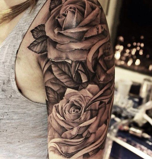25 Best Ideas About 3D Rose Tattoo On Pinterest Ideas And Designs