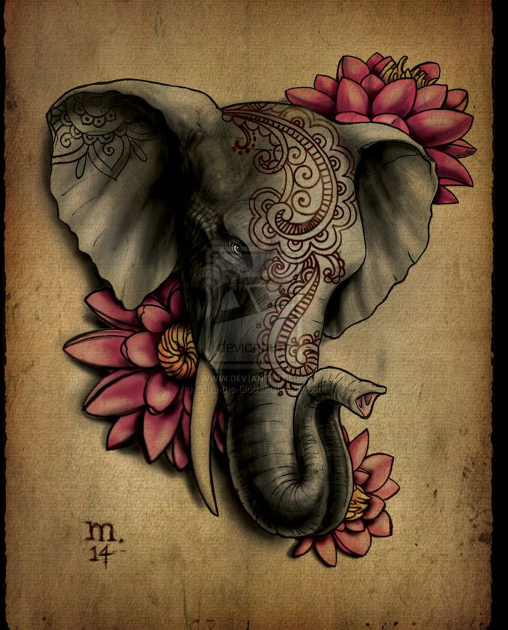 206 Best Images About Elephants Tattoo On Pinterest Ideas And Designs