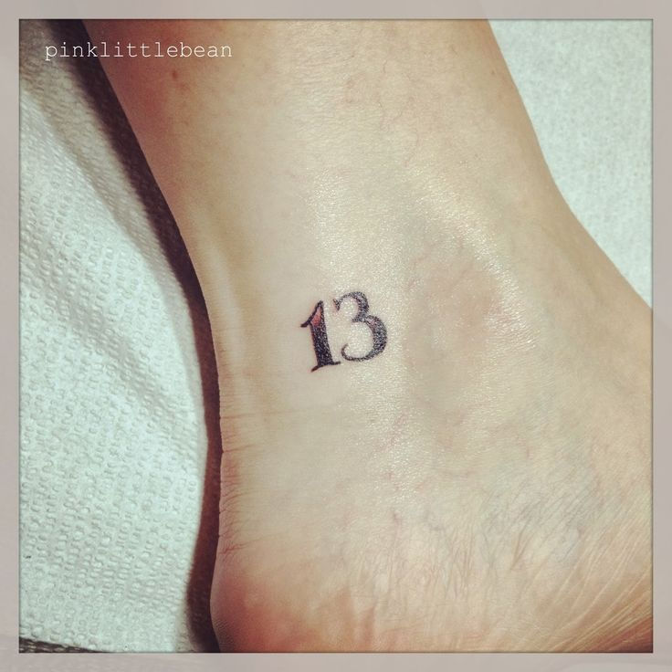 25 Best Ideas About Number 13 Tattoos On Pinterest Ideas And Designs