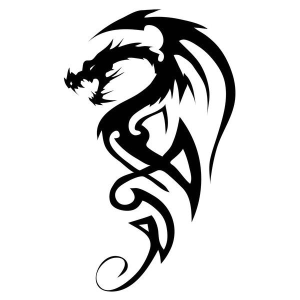1000 Ideas About Tribal Dragon Tattoos On Pinterest Ideas And Designs