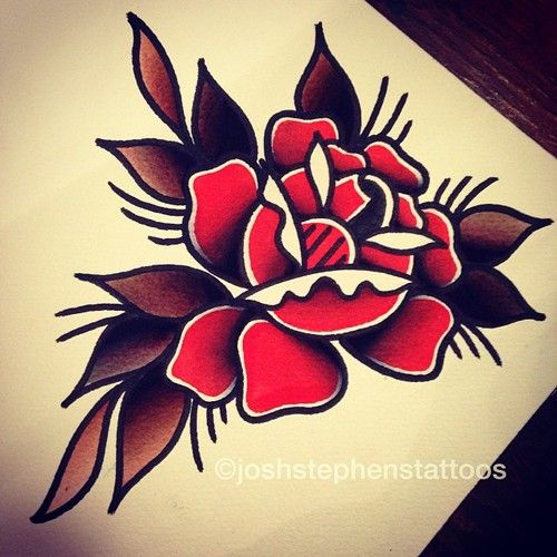 25 Best Ideas About Traditional Rose Tattoos On Pinterest Ideas And Designs