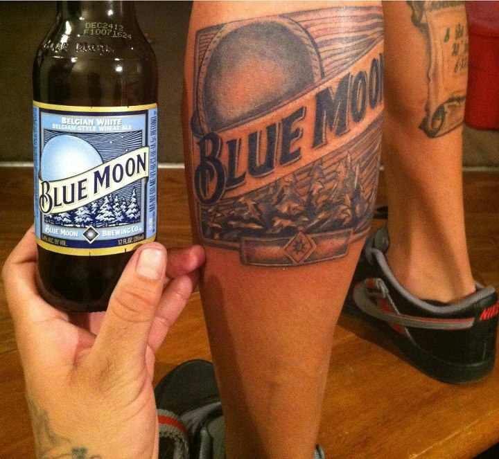 Blue Moon Tattoo Alcohol Tattoos Pinterest Moon Ideas And Designs