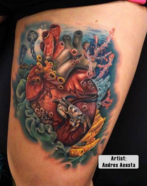 17 Best Images About Best 3D Heart Tattoos In The World On Ideas And Designs