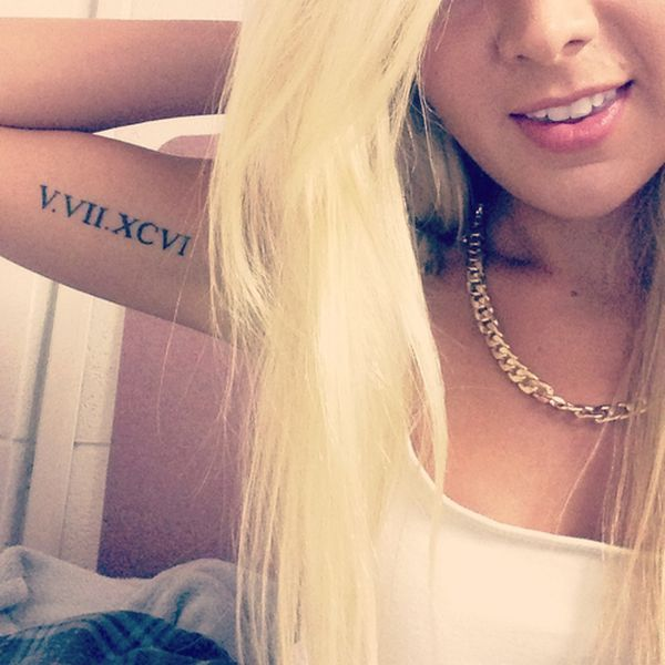 17 Best Ideas About Roman Numeral Tattoos On Pinterest Ideas And Designs