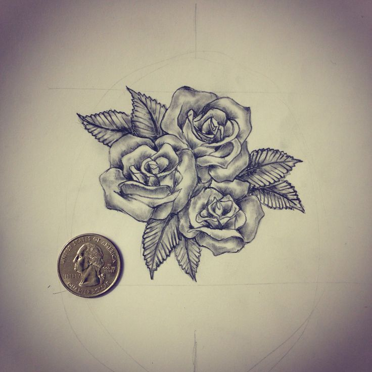 Small Roses Tattoo Sketch Drawing Tattoo Ideas By Ideas And Designs