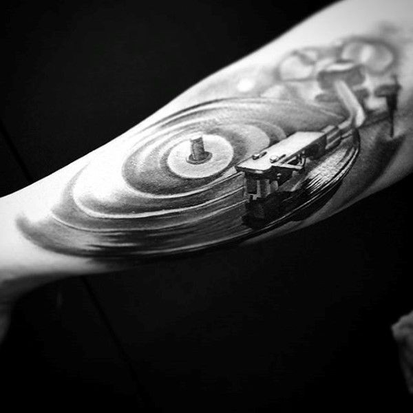 Fantastic 3D Musical Tattoo On Forearm For Men Tattoos Ideas And Designs
