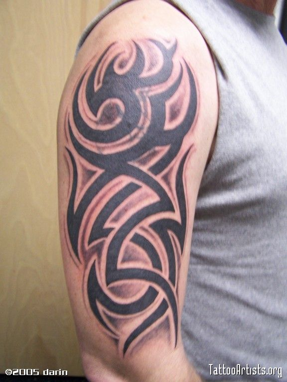 Another Shaded Tribal Tattoos Pinterest Tattoo Mom Ideas And Designs