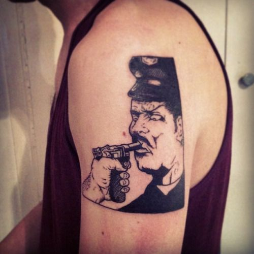 Acab Tattoo Black Stabbath Raymond Pettibon Police Story Ideas And Designs