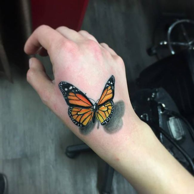 3D Butterfly Hand Tattoo Tattoo Pinterest Butterfly Ideas And Designs