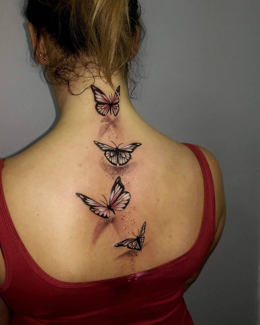 Amazing Butterfly Back Tattoo … Pinteres… Ideas And Designs