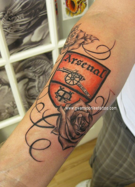 Not A Fan Of The Roses But The Arsenal Crest Part Of The Ideas And Designs