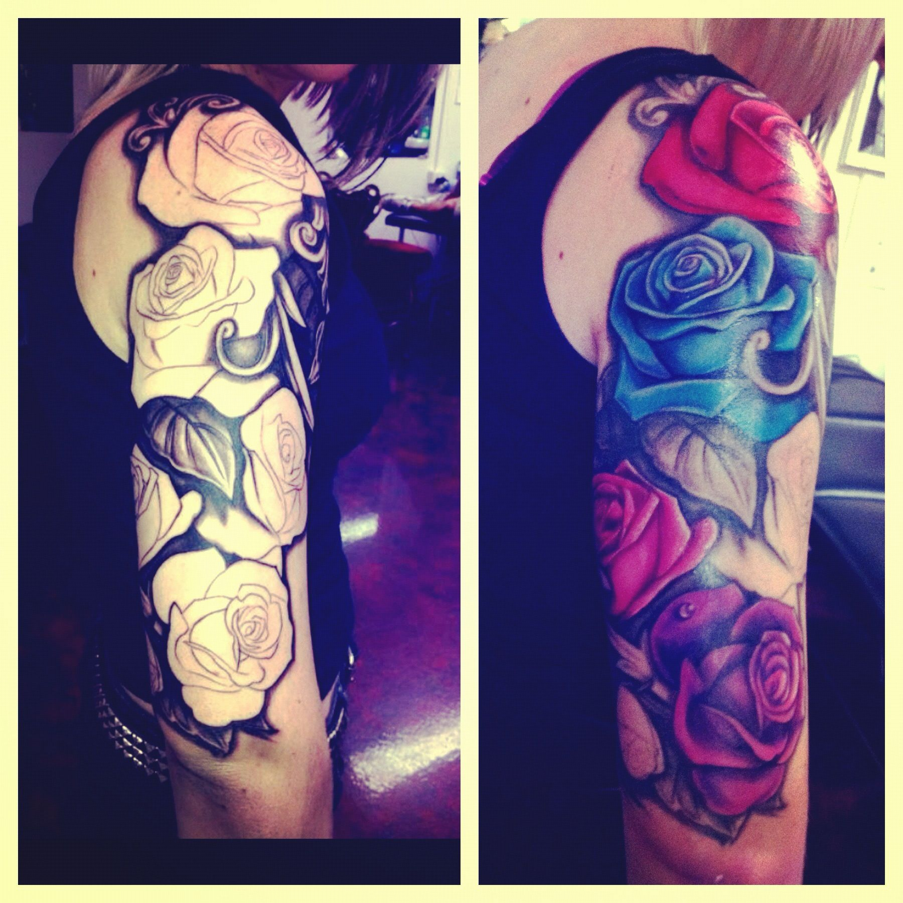 Best 25 Colorful Rose Tattoos Ideas On Pinterest 3D Ideas And Designs