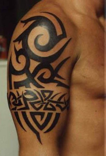 Hd Tattoos Com 3D Knot Tribal Tattoos On The Arm Ideas And Designs