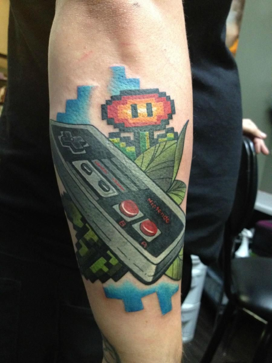 Keep It Retro With These Awesome 8 Bit Tattoos Retro Ideas And Designs