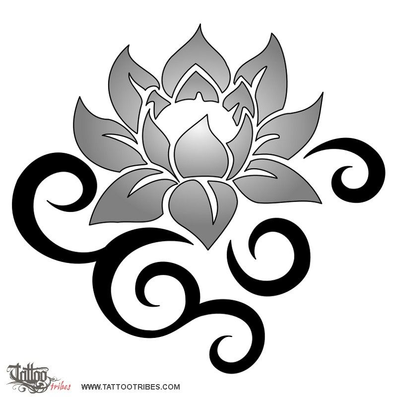 Tribal Lotus Depicts Beauty And Strength Tattoos Ideas And Designs