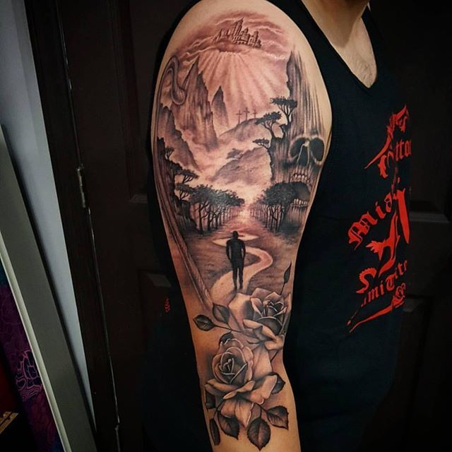 Nick Created This Beautiful Sleeve Based On Psalm 23 Ideas And Designs