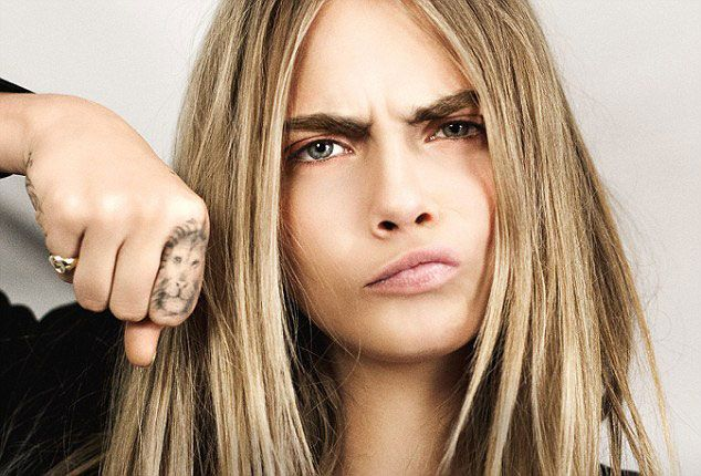 Cara Delevingne Tattoo Cara Delevingne Lion Tattoo Ideas And Designs