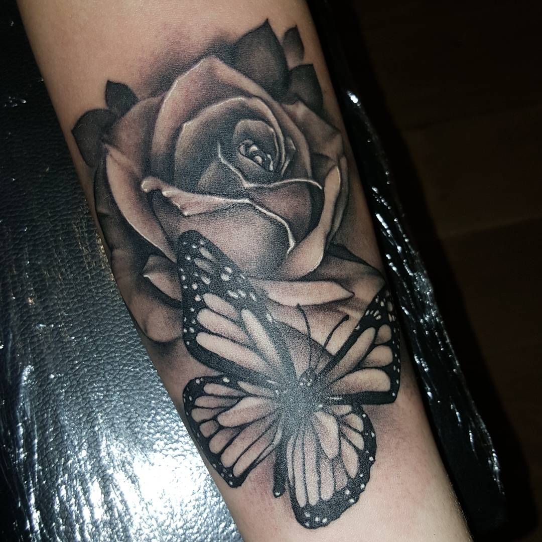 Download Free Will Nash Tattoos Art — Rose And Butterfly Ideas And Designs