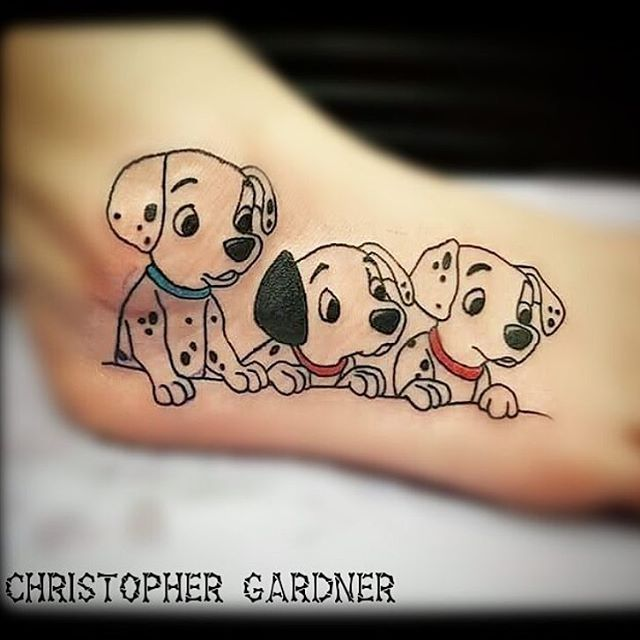 Cute Little Dalmatian Puppies Done By Cgtattoo1987 Ideas And Designs