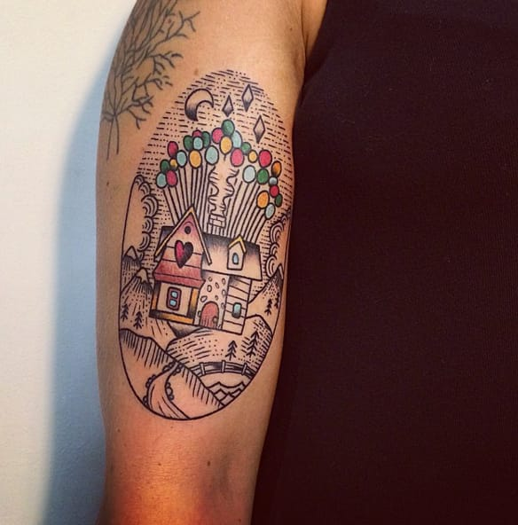 Adventure Is Out There Up Balloon House Tattoos Tattoodo Ideas And Designs