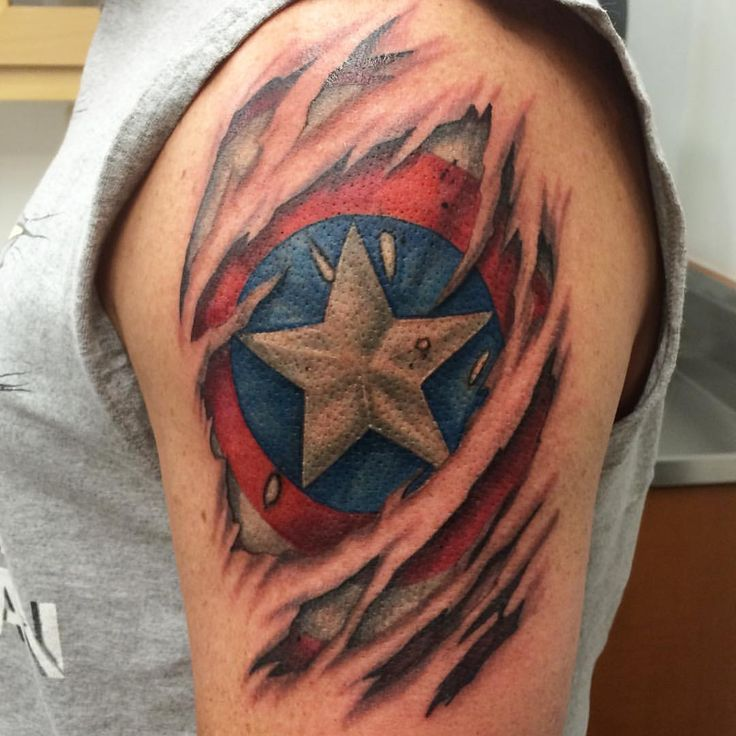 105 Captain America Tattoo Designs And Ideas For Marvel Ideas And Designs