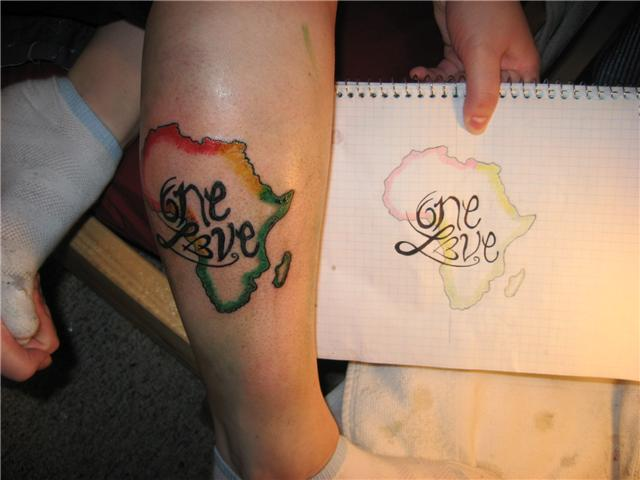 43 Latest African Continent Map Tattoos Ideas And Designs