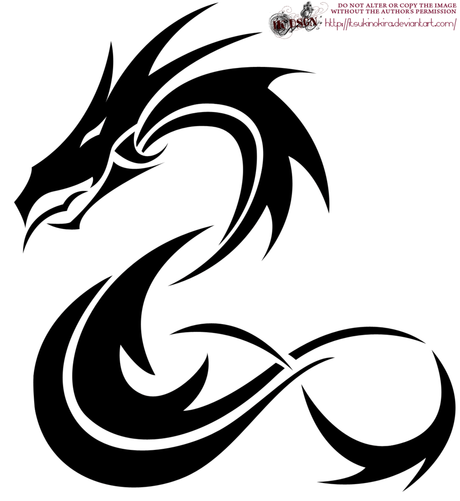 22 Tribal Dragon Tattoo Designs Images And Pictures Ideas And Designs