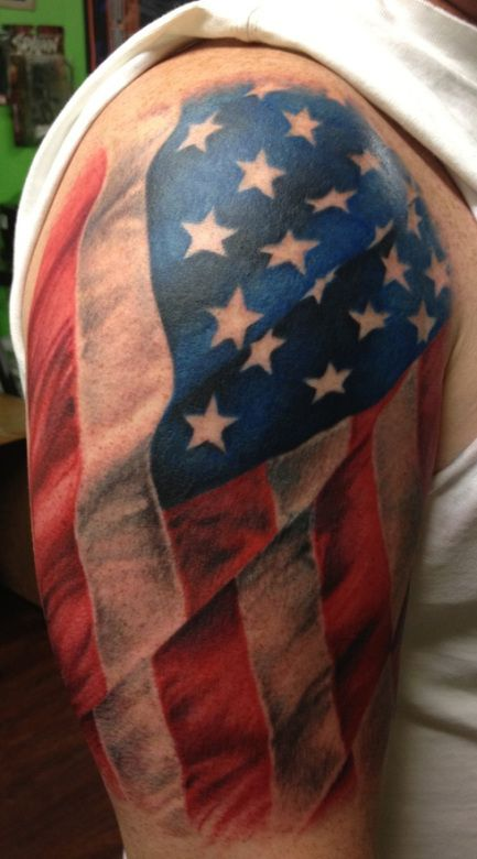 18 Colorful Patriotic Tattoo Images Designs And Pictures Ideas And Designs