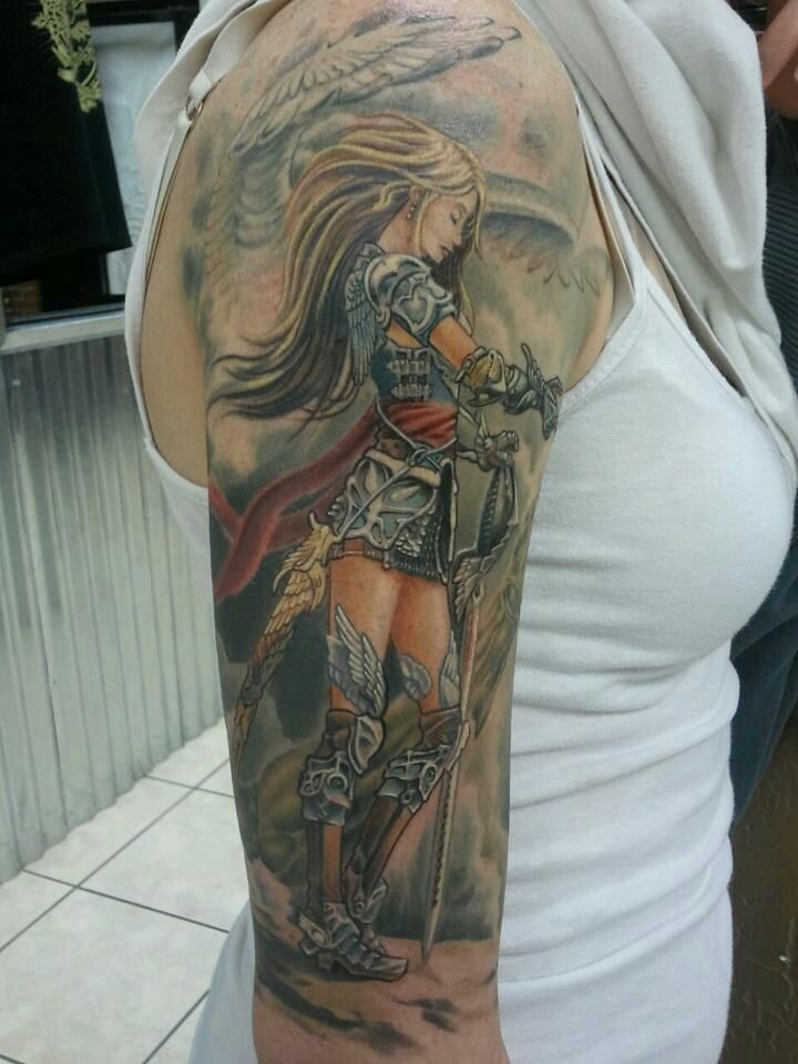 27 Warrior Angel Tattoos Designs Images And Ideas Ideas And Designs