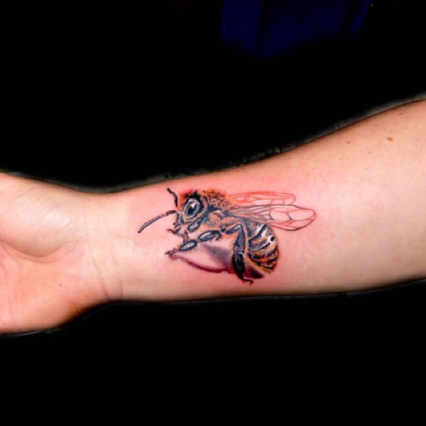 22 Bee Tattoos On Wrist Ideas And Designs