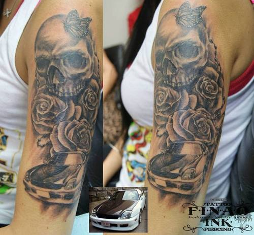 23 Nice Car Tattoos On Sleeve Ideas And Designs