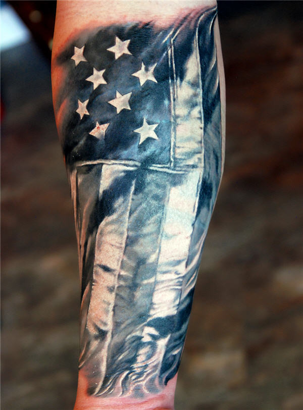 42 Military Flag Tattoos Ideas And Designs
