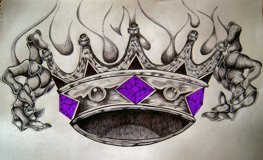 32 King Crown Tattoos Designs Ideas And Designs