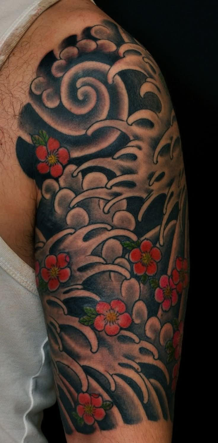 14 Awesome Wave Tattoos On Half Sleeve Ideas And Designs