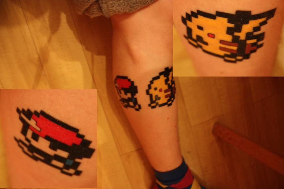 29 8 Bit Pokemon Tattoos Ideas And Designs