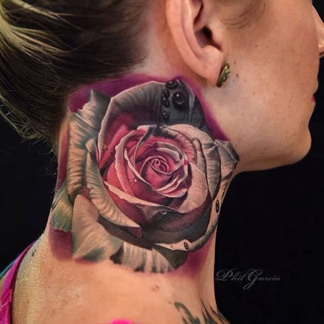 51 Best Rose Neck Tattoos Ideas And Designs