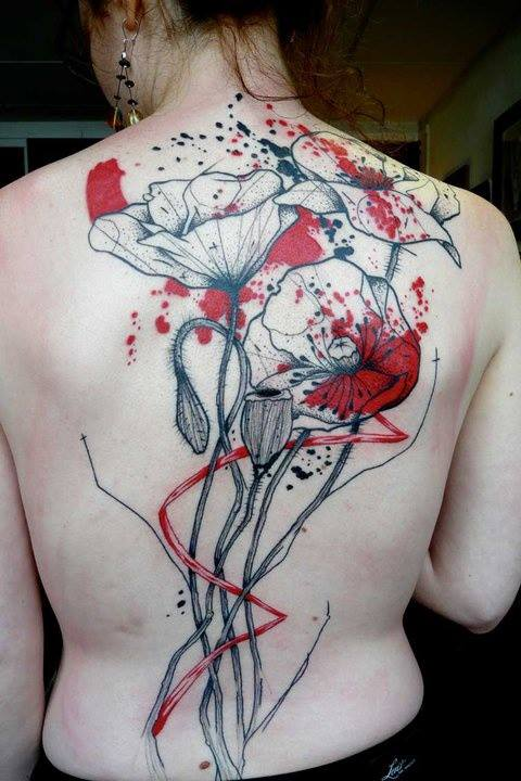 47 Abstract Flower Tattoos Ideas And Designs