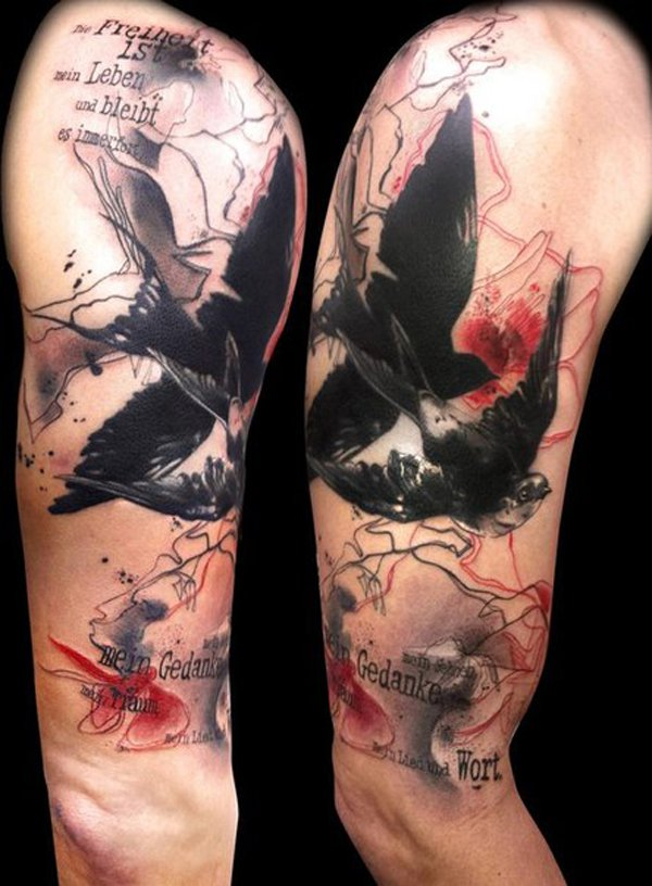 40 Abstract Bird Tattoos Ideas And Designs
