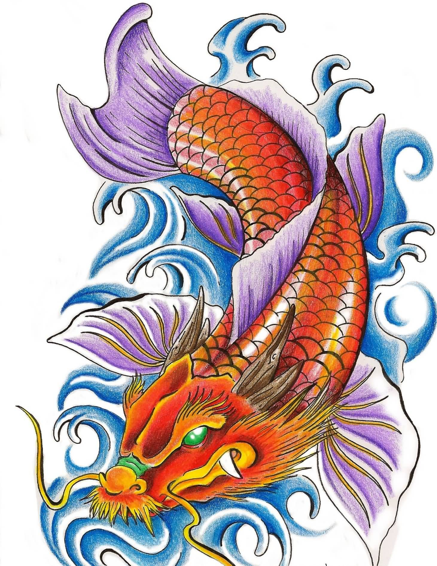 30 Nice Carp Fish Tattoo Designs Ideas And Designs