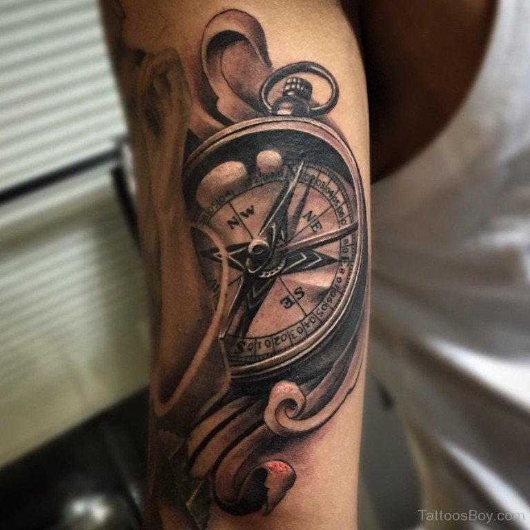 13 Black And Grey Compass Tattoos Ideas And Designs