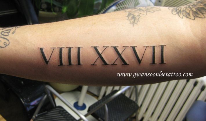 22 Forearm Roman Numerals Tattoos Ideas And Designs